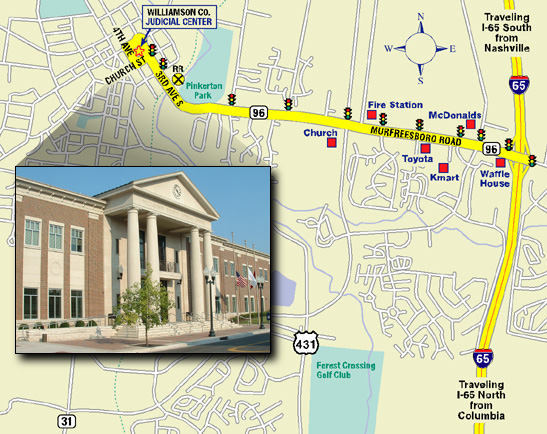 Williamson Co. Judicial Center Map